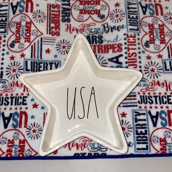 """Rae Dunn 'USA Star Dish"""""""
